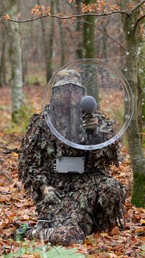The new SCHOEPS parabolic dish is hand-built by Telinga, Sweden. Photo by Mats Bentmar.